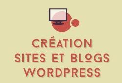 Création de sites et blogs Wordpress (site vitrine, blog, portfolio, site responsive, flat design, etc)