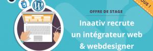 OFFRE DE STAGE : INTÉGRATEUR WEB – WEBDESIGNER