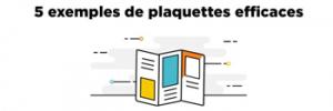 5 exemples de plaquettes efficaces