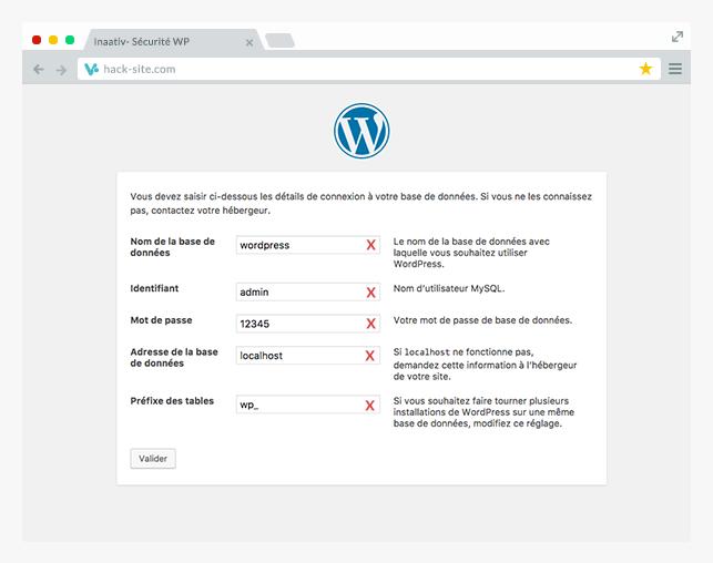 Mauvaise installation WordPress