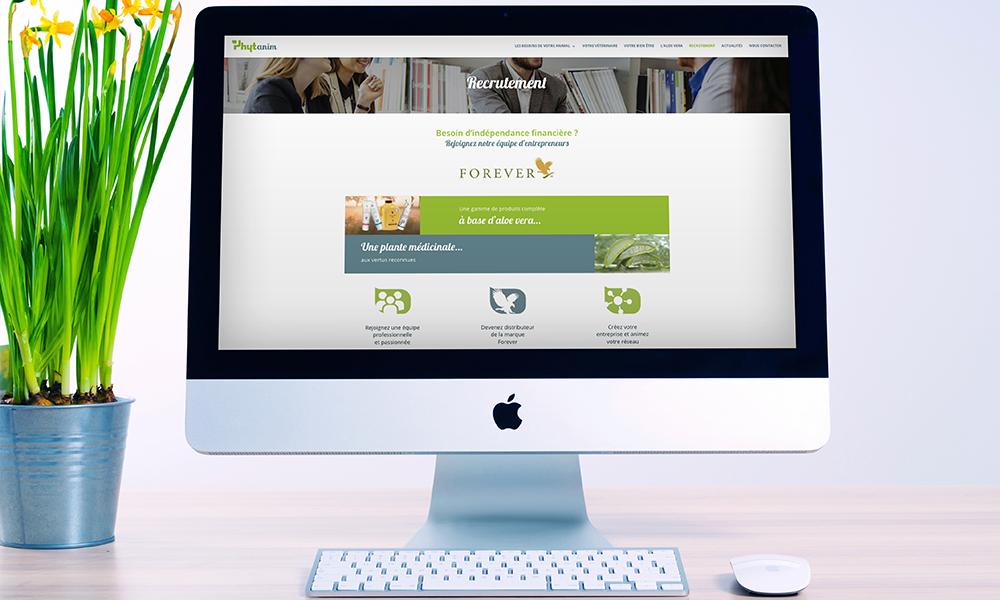 Création site web Phytanim imac