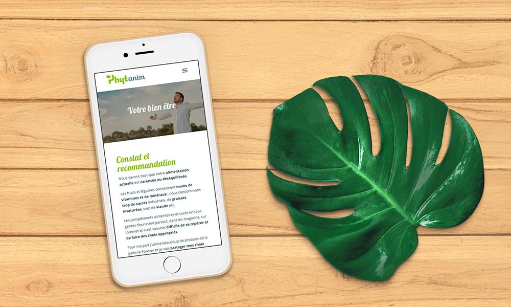 Création site web Phytanim iphone