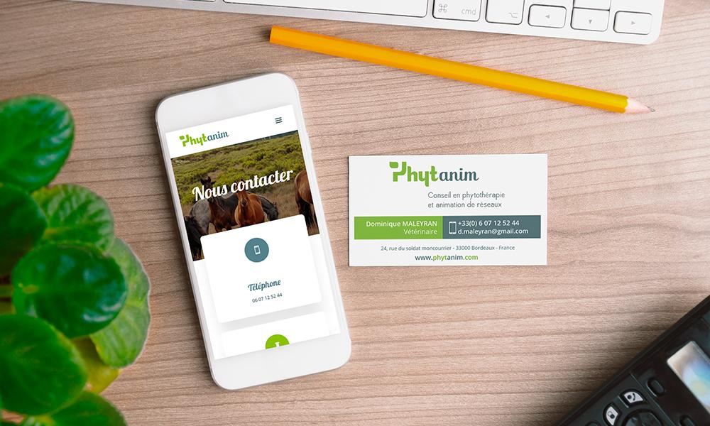 Création site web Phytanim et carte de visite